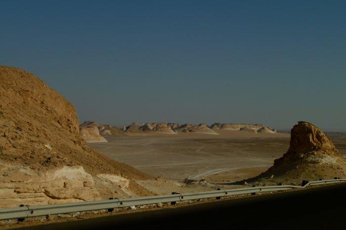 De witte woestijn in Egypte
