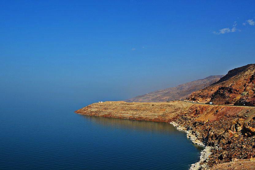 De Dode Zee in Jordanië