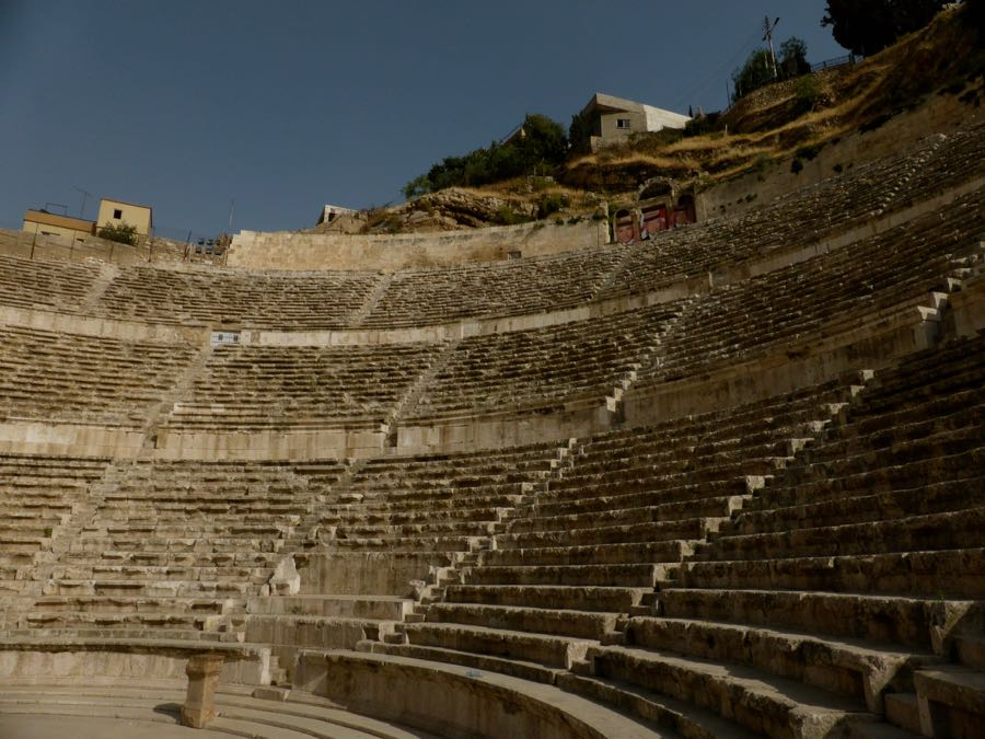 Romeins theater in Amman, Jordanië