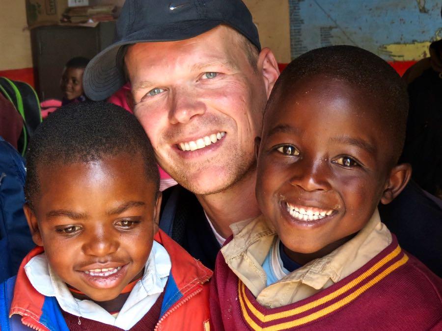 Schoolkinderen in Lesotho